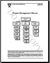 Harvard business school – 1996 project management manual pdf