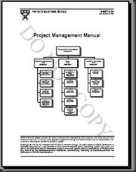 Harvard Business School - 1996 Project Management Manual